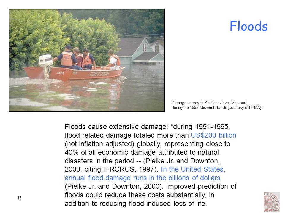 Floods Damage survey in St. Genevieve, Missouri, during the 1993 Midwest floods [courtesy of FEMA].
